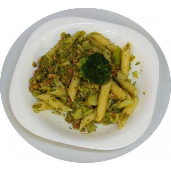 Penne con broccolli e salsicia