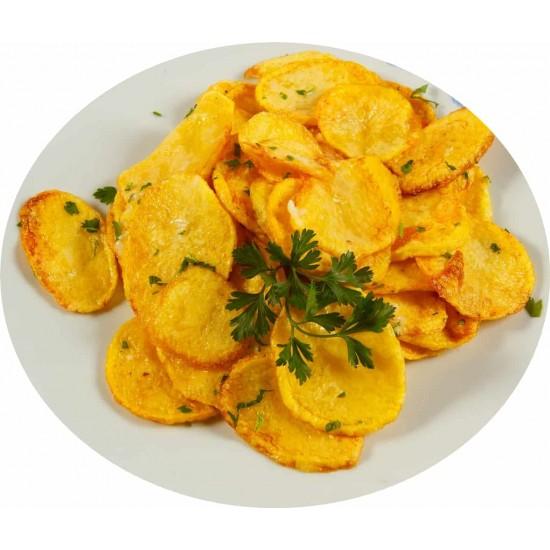 Cartofi la tavă cu usturoi